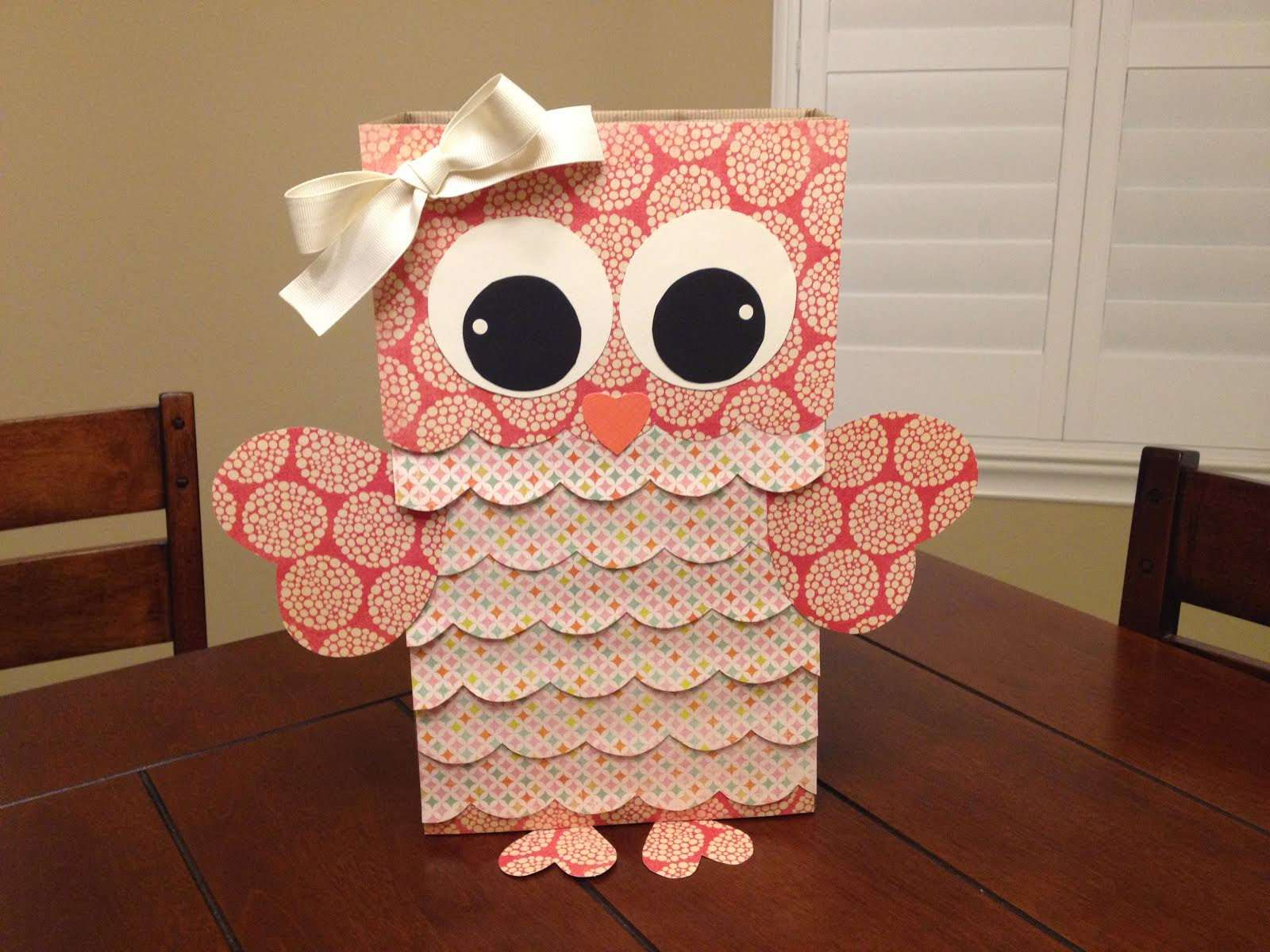The simple paper owls crafts idea 15 Valentine Boxes To Make With Kids
