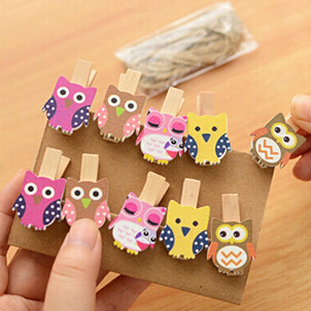 The simple paper owls crafts idea 2019 Mini Owl Wooden Photo Paper Peg Pin Clothes Pin Craft Postcard