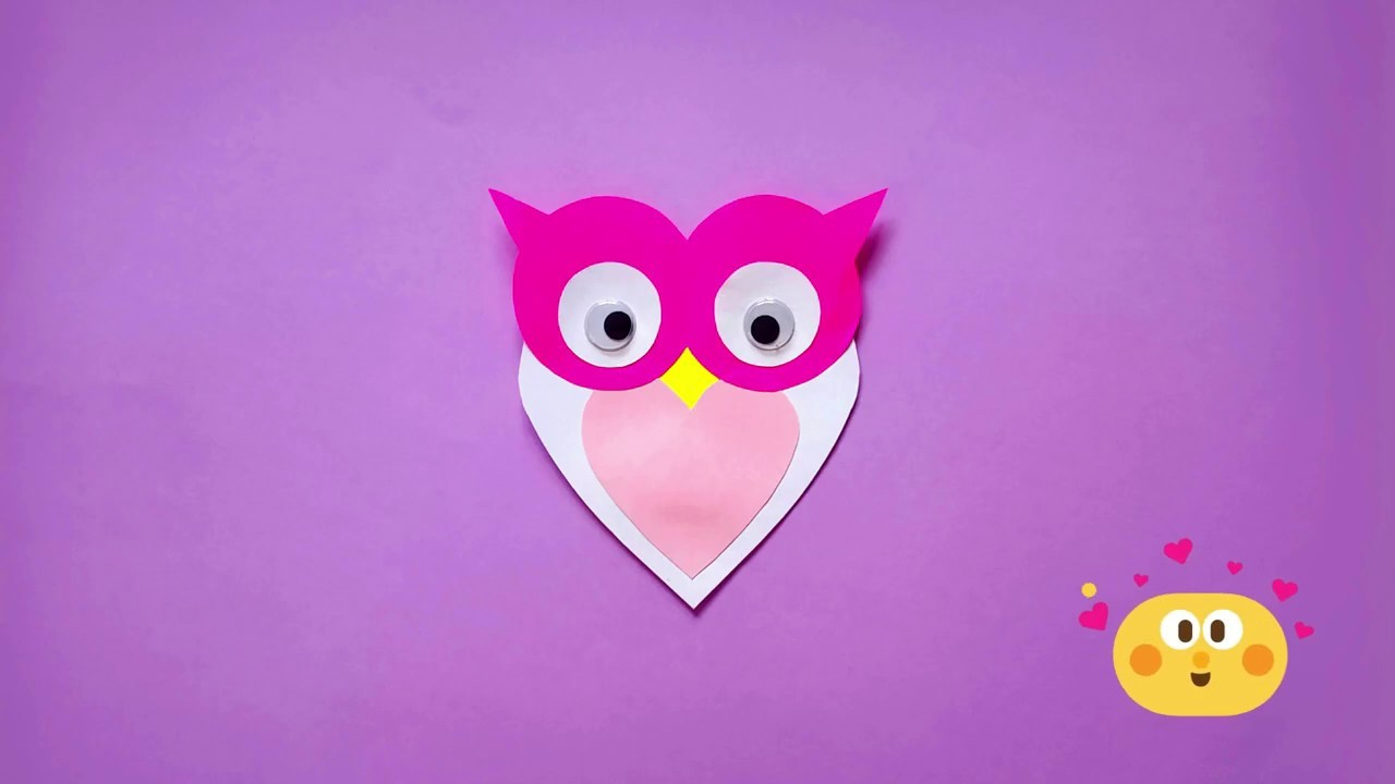 The simple paper owls crafts idea Origami Paper Owl Crafts Idea Very Easy 3d Diy Paper Crafts