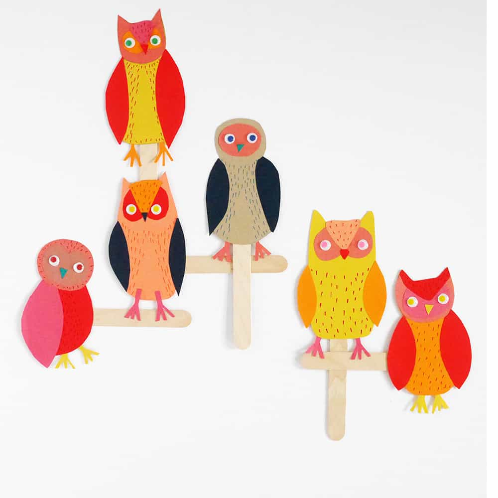 The simple paper owls crafts idea Paper Owl Stick Puppet Craft Hello Wonderful