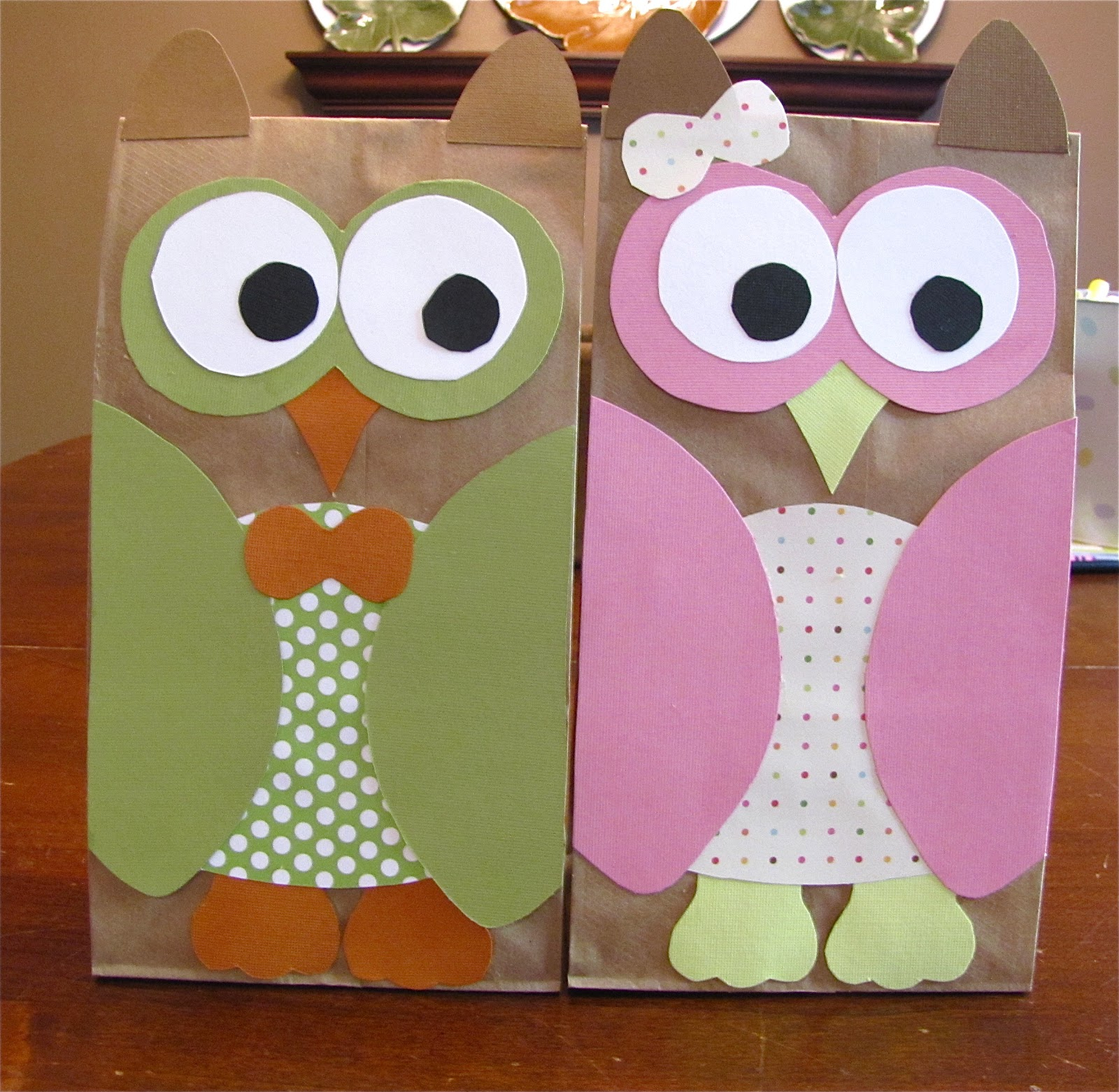The simple paper owls crafts idea The Modest Homestead Owl Treat Bags