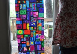 Wax Paper Crafts For Kids Sharpie On Wax Paper Looks Like Stained Glass A Fun Art Project For