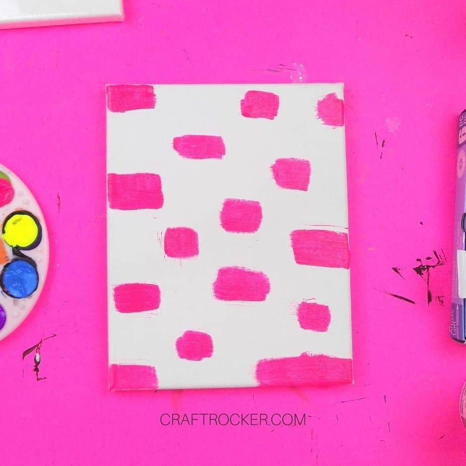 Hot Pink Rectangles on Canvas - Craft Rocker