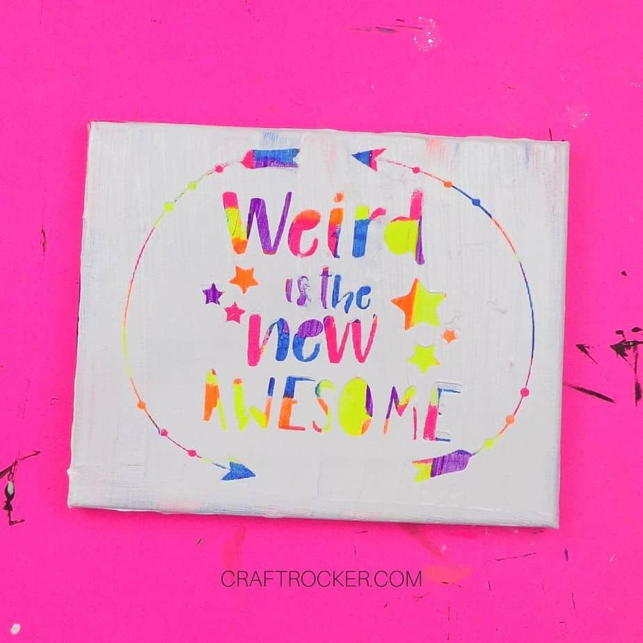 Weird is the New Awesome Hot Mess Canvas - Craft Rocker