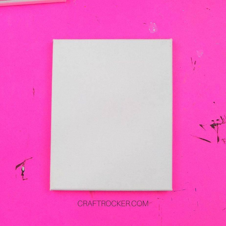 White Blank Canvas on Pink Background - Craft Rocker