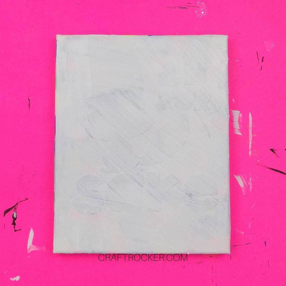 White Paint over For Fox Sake Stencil on Canvas - Craft Rocker