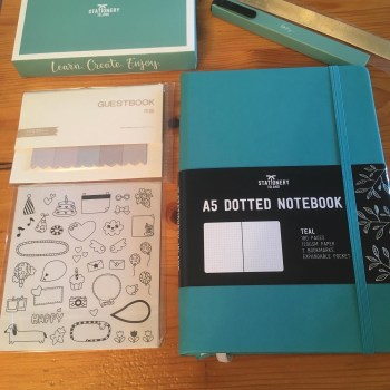 Bujo kit -Bullet Journal, stickers, and accessories