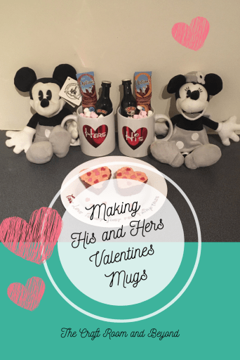 His and Hers Valentines Mugs Pin