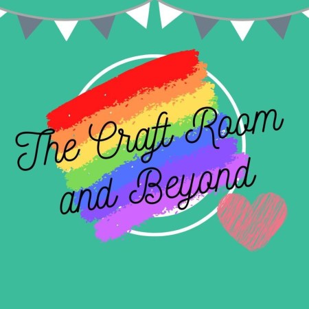 The Craft Room and Beyond pride month, rainbow logo