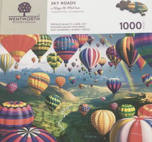 """Rainy Day Jigsaw Puzzle Day - Wentworth Puzzles """"Sky Roads"""" 1000 piece puzzle"""