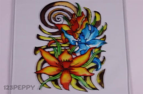 How To Make A Blossoms Glass Painting