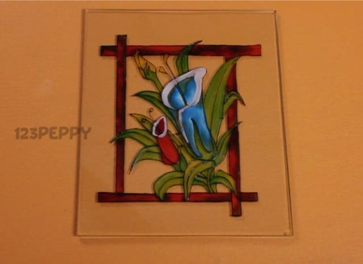 How To Make A Gorgeous Flower Glass Painting