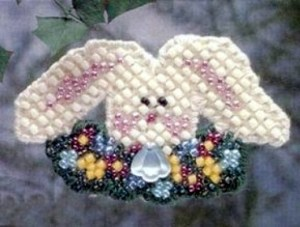 Mill Hill Flower Bunny Beaded Cross Stitch Kit