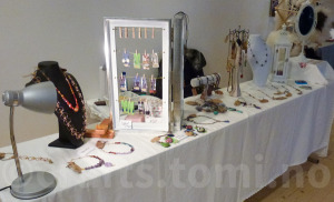 My stand - a work in progress. Still working on the jewerly displays-
