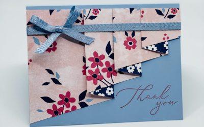 DRAPERY FOLD THANK YOU CARDS BLOG HOP