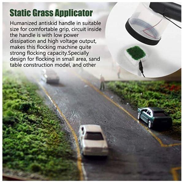 ABS Mini static Grass Flocking applicator with stopskid