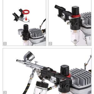 Gravity Feed Dual Action Airbrush Kit