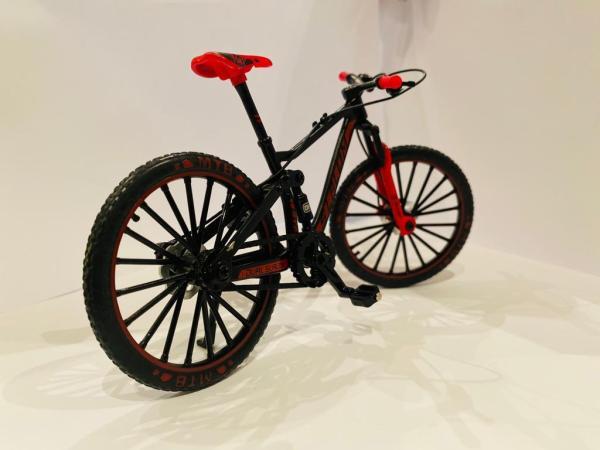 red black bicycle