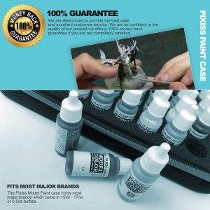 Pixiss Model Paint Storage Case 60 Slots ,and 6 Fine Detail Miniatures Paint Brushes