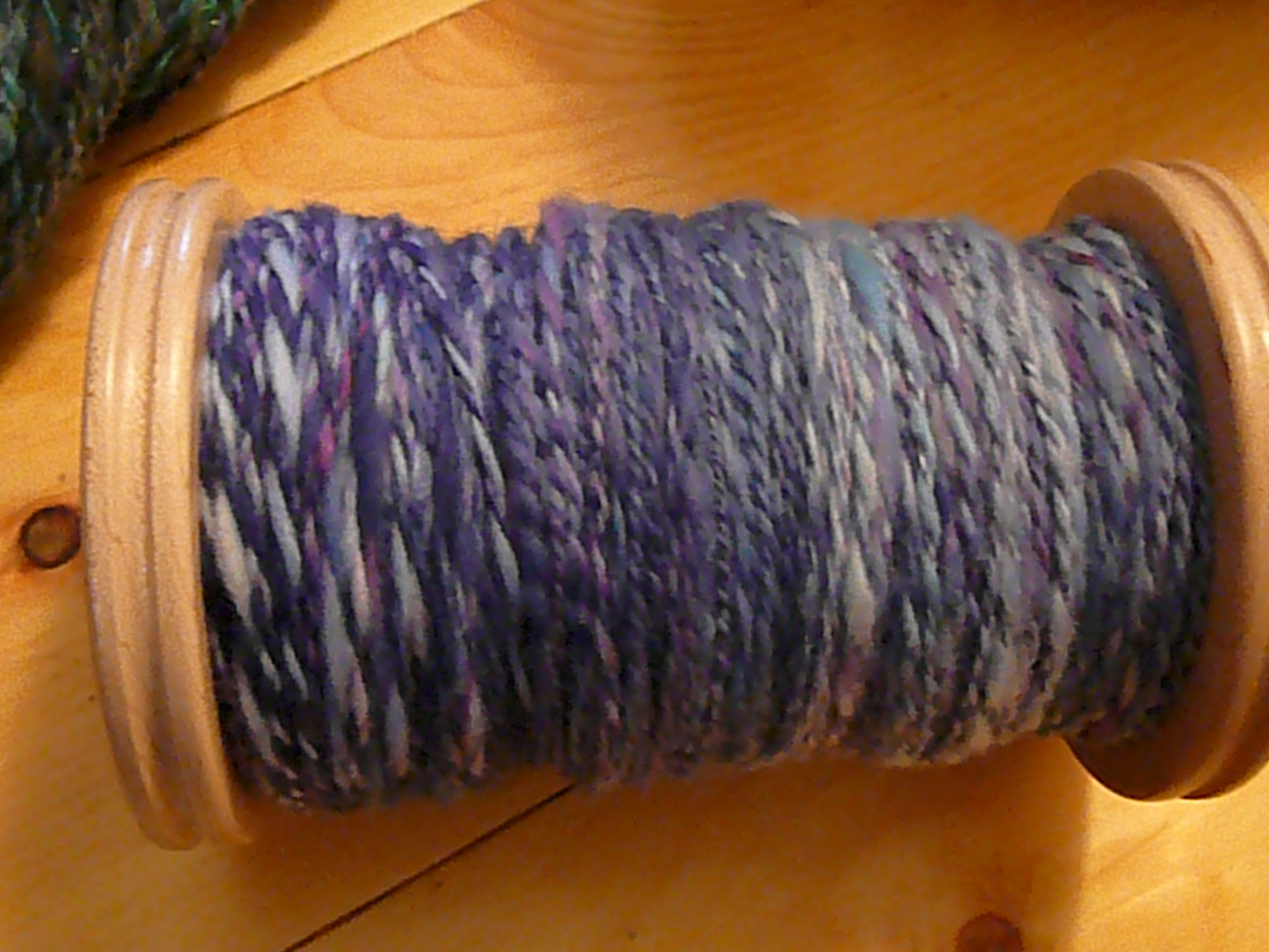 Yarn on the jumbo bobbin
