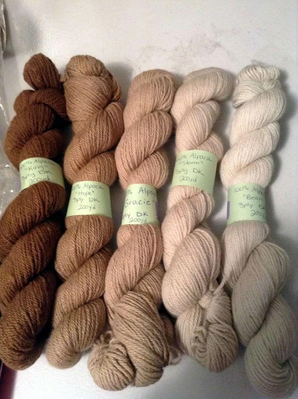 Blackberry Ridge Farm alpaca yarn - Wolcott, VT 05680
