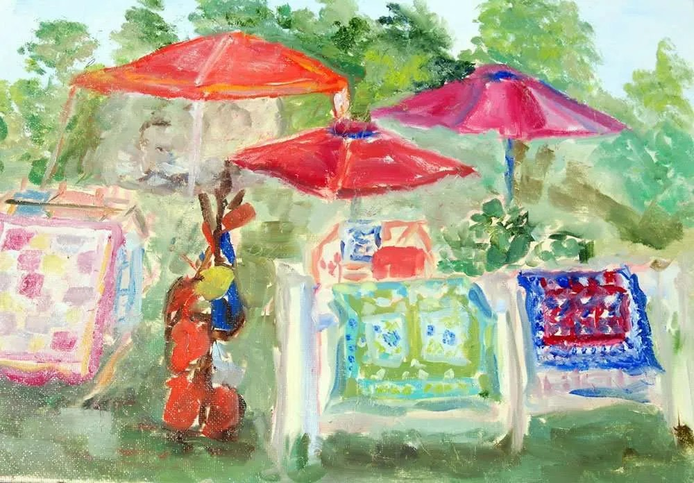 Plein Air Paint the Common - Sally Cabell - Woodhenge Quilts