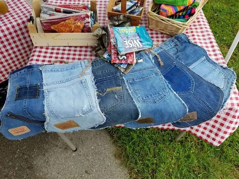 Anne de Vos - Re-imagined / re-purposed jeans