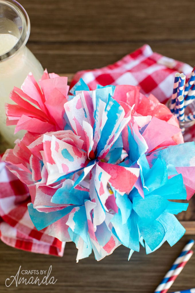 close up of coffee filter flowers