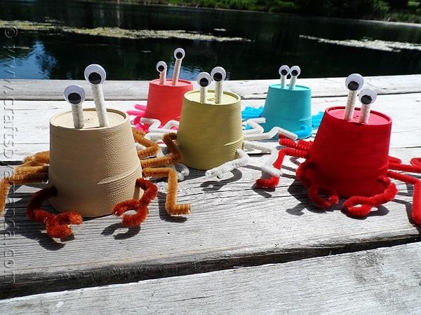 Styrofoam Cup Sea Crabs Crafts By Amanda