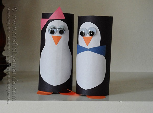 Cardboard Tube Penguins Crafts By Amanda