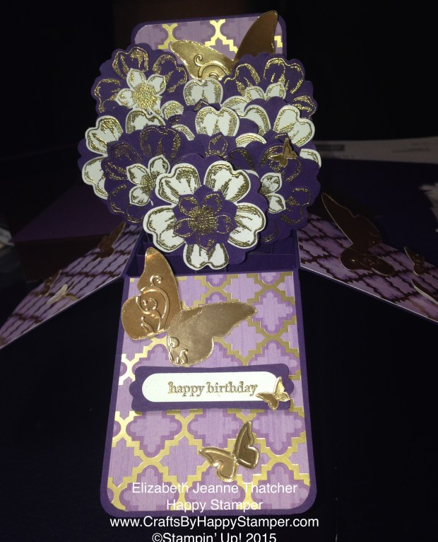 flower card in a box
