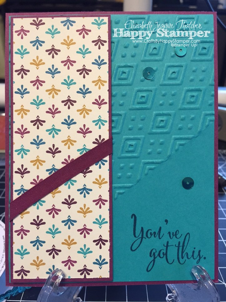Bohemian, You've Got This, Stampin Up