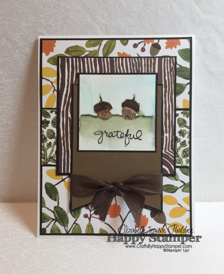 Into The Woods, For All Things, Endless Thanks, Stampin Up