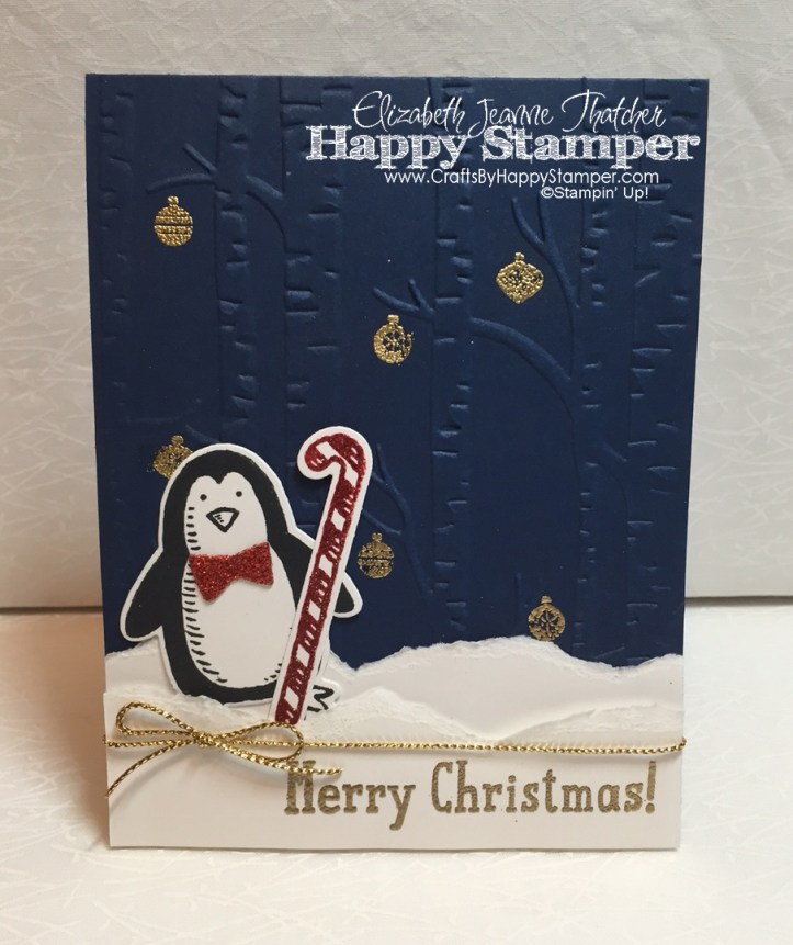 Snow Place, Peaceful Pines, Woodland EF, Stampin Up