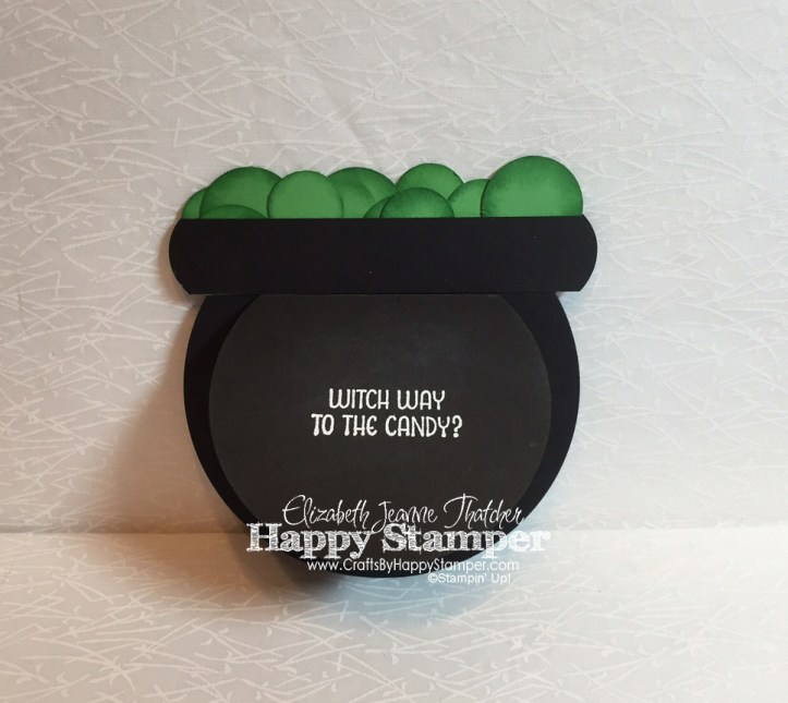 Stampin Up, Haunt Ya Later, Cauldron Card