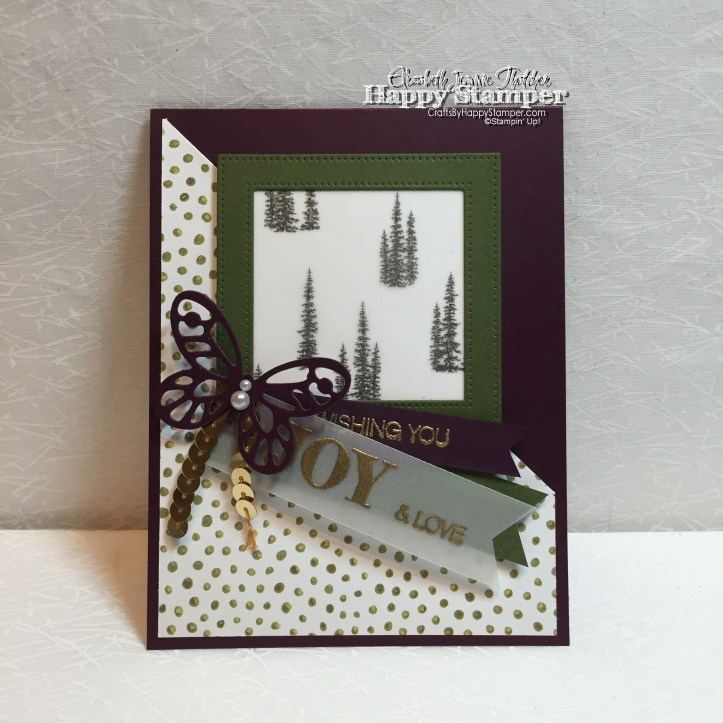 Holly Jolly Grettings, Bold Butterfly, Into the Woods DSP, Winter Wonderland Vellum, Stamping Up