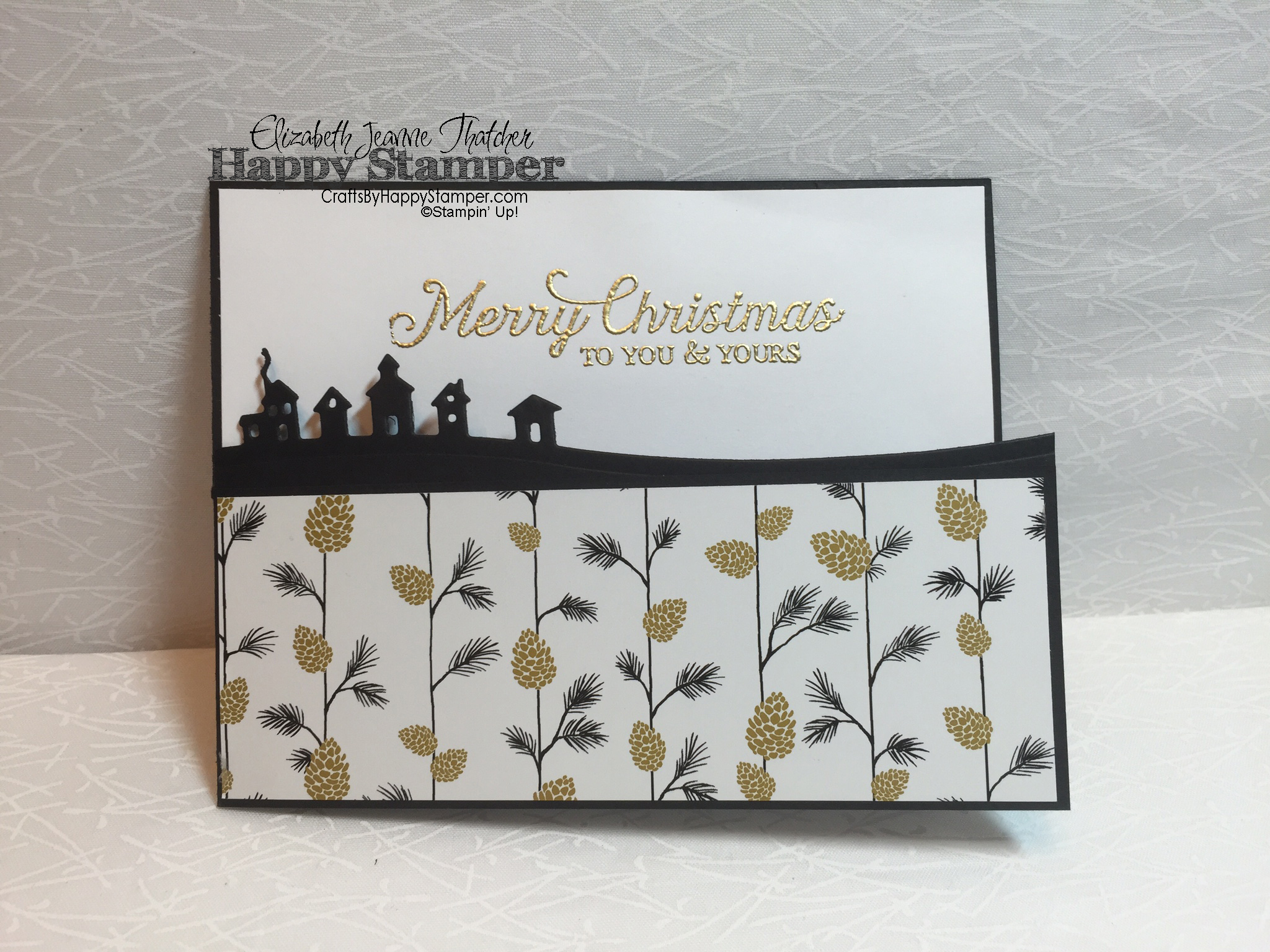 Classy Clean And Simple Christmas Card Crafts By Happy Stamper