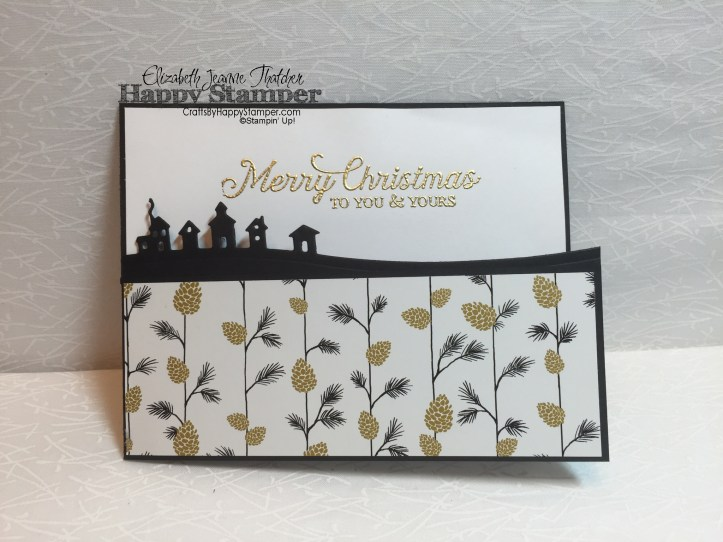six sayings, Stampin up, christmas, sleigh ride edgelits, winter wonderland dsp