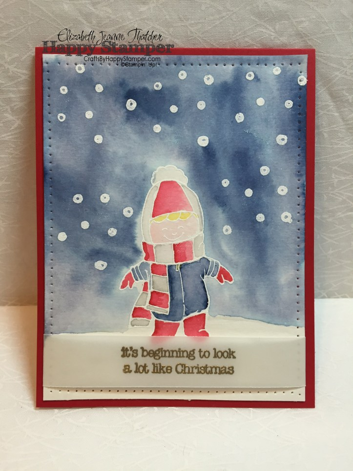 christmas cuties, stampin up, watercolor