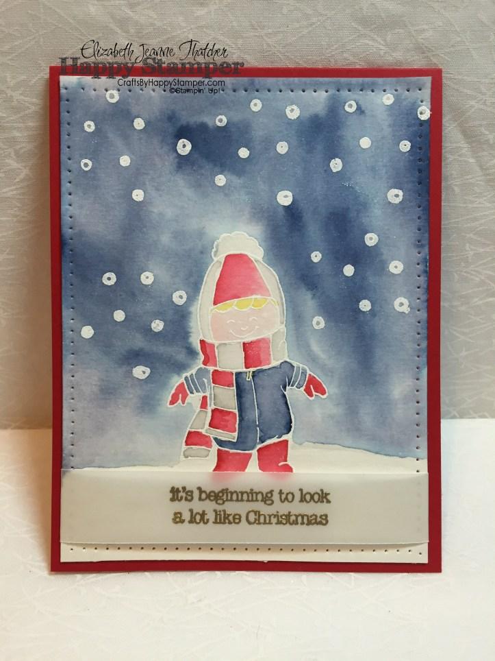 christmas cuties, stampin up, watercolor