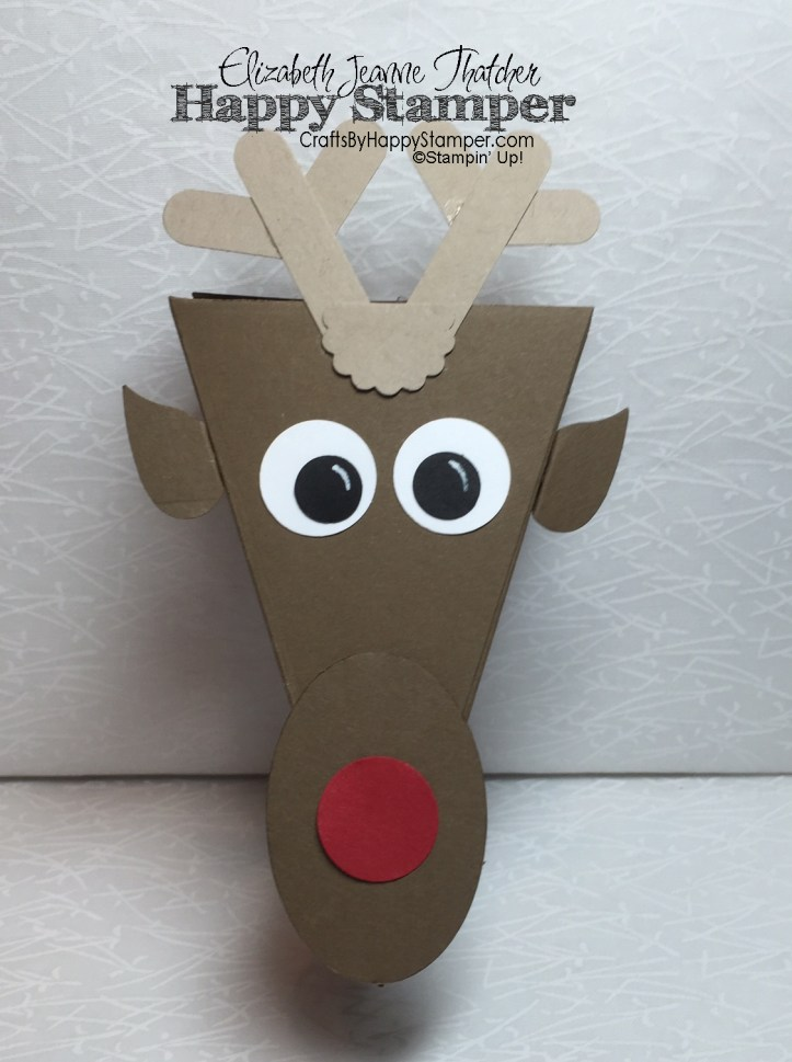 reindeer, rudolph, cutie pie thinlits, stampin up, bird builder punch