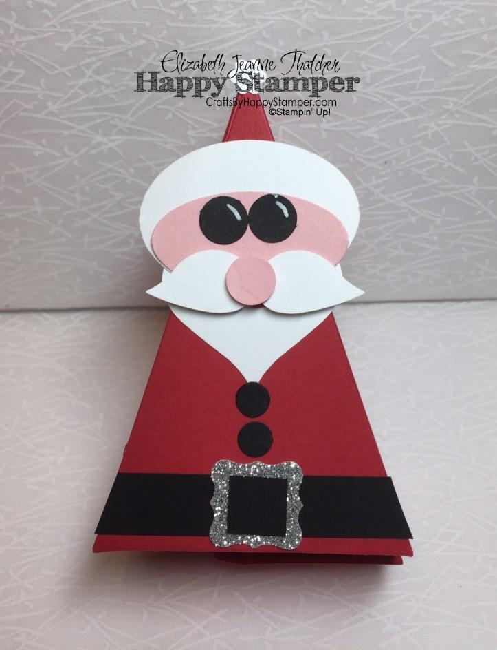 santa, cutie pie thinlits, stampin up, bird builder punch, tree builder punch