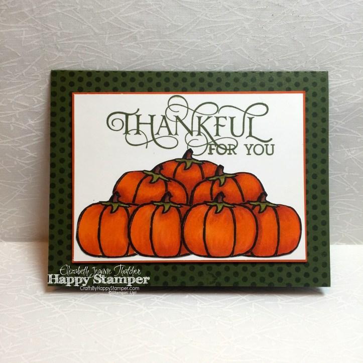 thankful card, stampin up, haunt ya later, six sayings, thanksgiving