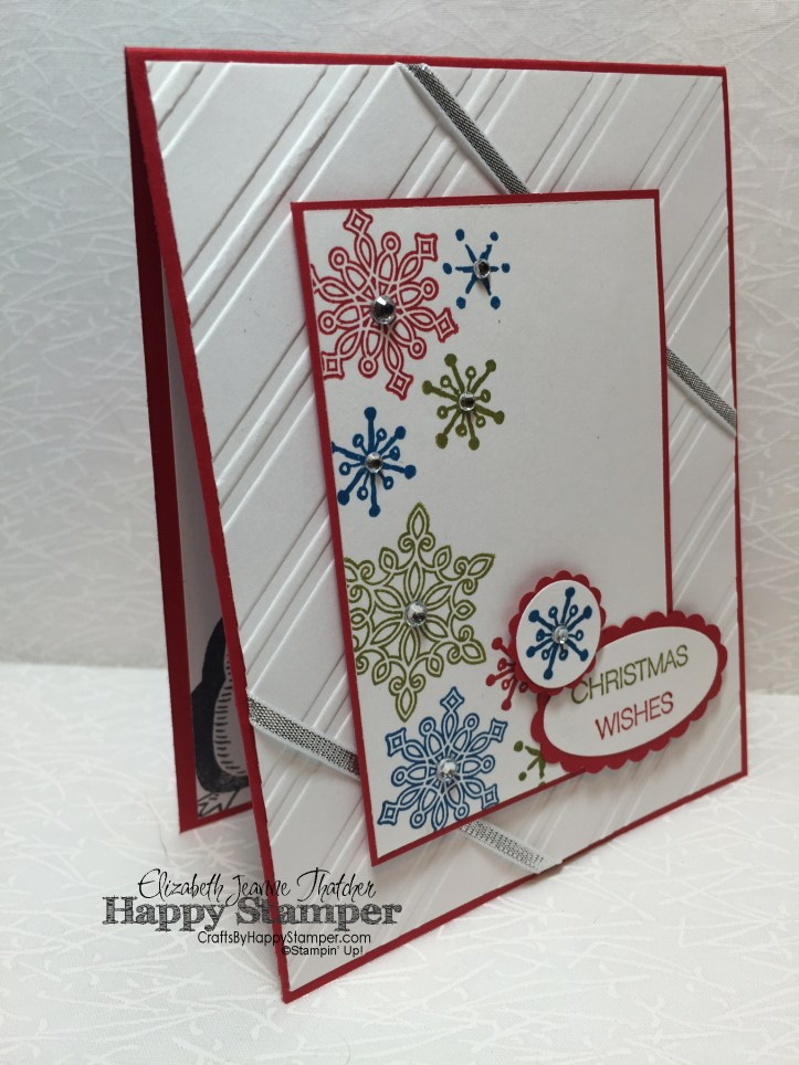 Stampin Up, Flurry of Wishes, Snow Place, Holly Jolly Greetings