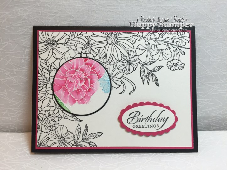 Stampin Up, Corner Garden, Wetlands, Spotlight Technique