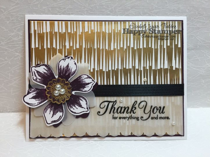Stampin Up, Winter Wonderland, Thank You Note Card Set, One Big Meaning, Beautiful Bunch
