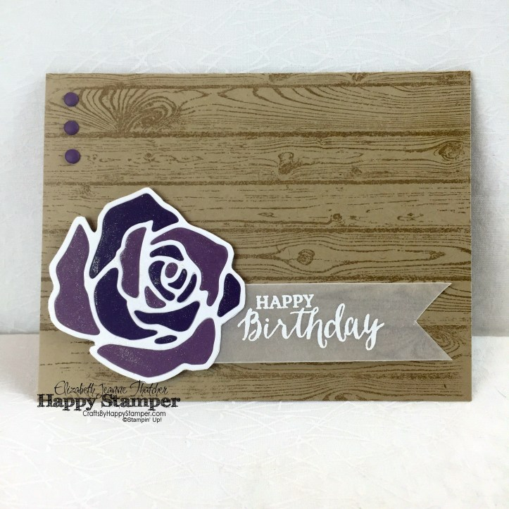 Stampin Up, Rose Wonder, Hardwood