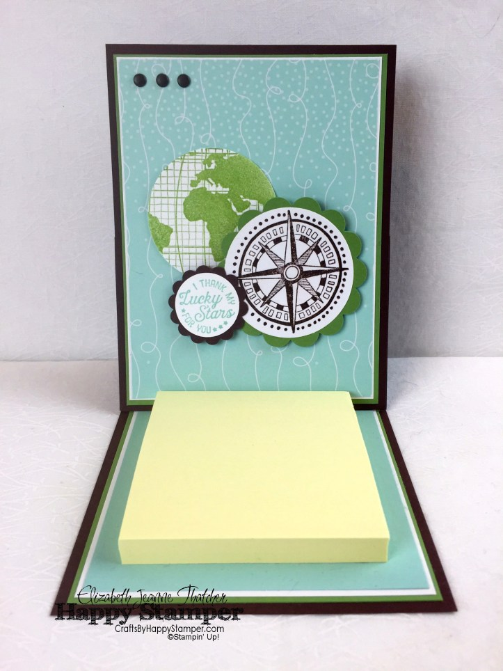 Stampin Up, Going Places, Going Global, Post it note, easel card