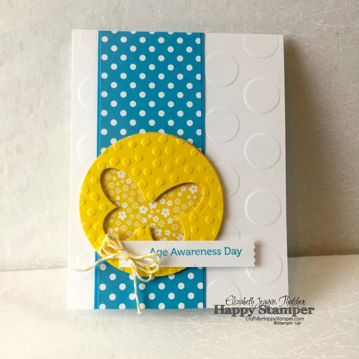Stampin Up, Can You Case It, CYCI, Age Awareness, Butterflies Thinlits, Washi Tape Punch, Decorative Dots, Large Polka Dots