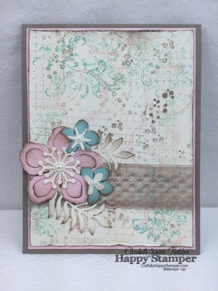 Stampin Up, SU, Timeless Textures, Botanical Builders, Vintage